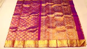 Stonework Purple With Stone Work Wedding Silk Saree And Blouse With Stone