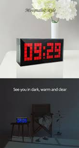 display big jumbo creative alarm clock light digital wall clock