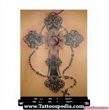 cross and rosary tattoo tattoo viewer com