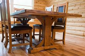 Rustic Trestle Table Refined Distressed Wood Hand Made - Trestle kitchen tables