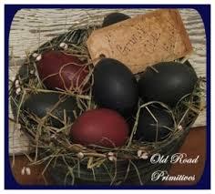 primitive easter eggs primitive decor the comforts of home