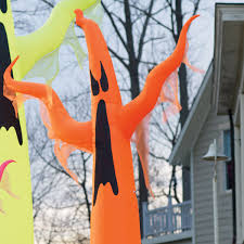 giant neon inflatable ghosts the green head