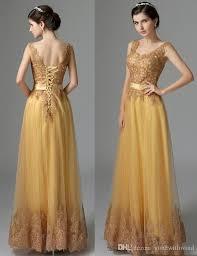 gold bridesmaid dresses gold bridesmaid dresses lace appliques the shoulders