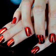 aliexpress com buy flat top metallic false nail tips mirror