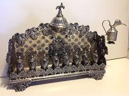 antique menorah antique original judaica germany silver menorah hanukkah l 1384