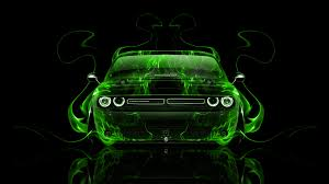 Dodge Challenger Green - dodge challenger muscle front fire abstract car 2014 el tony