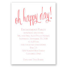 Engagement Card Invitation Wording Oh Happy Day Mini Engagement Party Invitation Invitations By Dawn