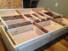Box Bed Frame With Drawers Diy Size Storage Bed Includes Cutting Plans Directions