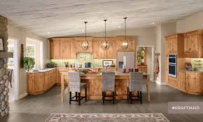 what color flooring goes with alder cabinets kraftmaid rustic alder kitchen cabinetry in