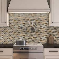 kitchen backsplash peel and stick peel stick glass mosaic tile venice mineral tiles