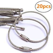 wire key rings images 20pcs stainless steel wire keychain cable key ring jpg