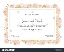 Marriage Invitation Card Wedding Invitation Card White Surface Gold Stock Vector 263878379