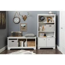 Dining Bench With Storage South Shore Vito Pure White Storage Bench 10327 The Home Depot