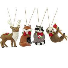 fabric sloth deer fox raccoon ornaments at home at home