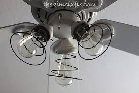 Industrial Style Ceiling Fan by Industrial Ceiling Fan Makeover Using Vintage Mattress Springs