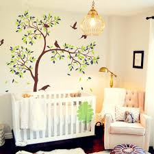 White Tree Wall Decal For Nursery White Tree Wall Decal Vinyl Sticker Birds Tree Baby Nursery