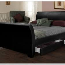 Black Leather Sleigh Bed Bedroom Awesome King Sleigh Bed For Your Bedroom Plans