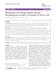 needlestick and sharps injuries among housekeeping workers in