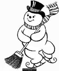 jolly snowman blanks coloring snowman