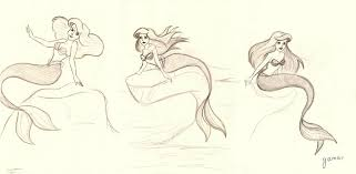 mermaid sketches gizmar deviantart