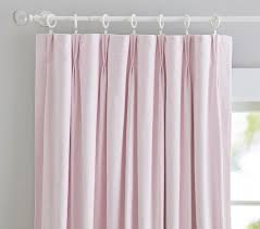Kid Blackout Curtains Linen Blend French Pleat Blackout Panel Pottery Barn Kids