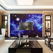 3d bright stars wallpaper mural for ceiling wall bedroom living