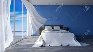 tissu bord de mer image du lit 3ds rendus en bord de mer chambre qui ont la couleur