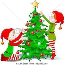 christmas tree decorating clipart 2140029