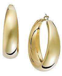 gold hoops earrings i n c gold tone wide hoop earrings jewelry watches macy s