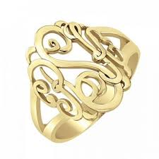Monogram Ring Gold Monogram Ring Monogrammed Rings Umagicbox