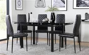 Black Glass Extending Dining Table Furniture Maxresdefault Appealing Glass Table With Chairs 19
