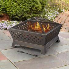 Hampton Bay Outdoor Fireplace - hampton bay tipton 34 in steel deep bowl fire pit in oil rubbed