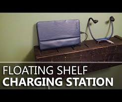 Charging Station Shelf Floating Shelf Charging Station From Pallet Wood 9 Steps With
