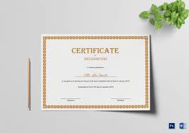 56 free printable certificate template examples in pdf word