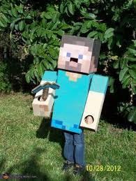 Halloween Costumes Minecraft Minecraft Steve Costume Homemade Costumes Halloween Costumes