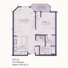 floor plans a3 843 1 bed 1 bath