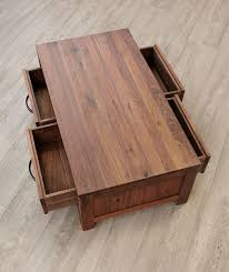 Walnut Coffee Table Buy Baumhaus Mayan Walnut Coffee Table Low 4 Drawer Cfs Uk