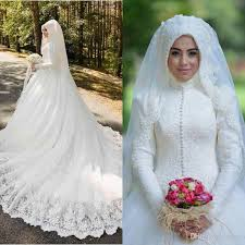 islamic wedding dresses muslim wedding dresses 2016 lace high neck