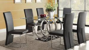 dining room table sets various black glass dining room table and chairs stunning of sets
