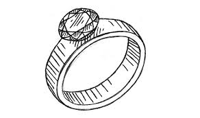 kif wedding band how to draw a diamond ring easy