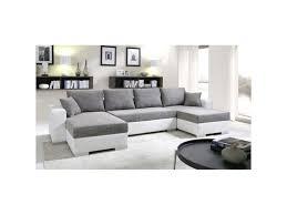 canapé d angle convertible cuir conforama canapé d angle convertible enno tissu gris et simili cuir blanc