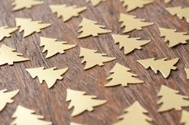 photo of christmas shapes on wooden table free christmas images