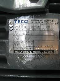 blower with teco phase induction motor secondhand my detail type