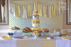 yellow baby shower ideas yellow and grey baby shower project nursery