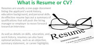 what is resume what is resume or cv bio data in business communication