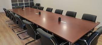 Dark Cherry Folding Conference Table Fusion Executive Furniture