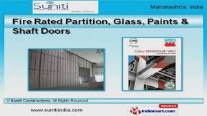 Fire Rated Doors With Glass Windows by Fire Rated Door U0026 Partition By Suniti Constructions Pune Youtube