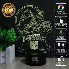 new england patriots lights hui yuan new england patriots 3d visual night lights for kids touch