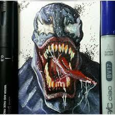 venom sketch card by aury artist