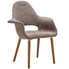 eames u0026 saarinen style brown organic designer armchair with